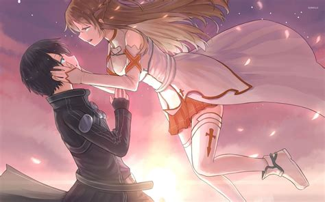 One Piece Wallpaper 1080p Kirito And Asuna Sword Art Online Wallpaper Anime Wallpapers 33018
