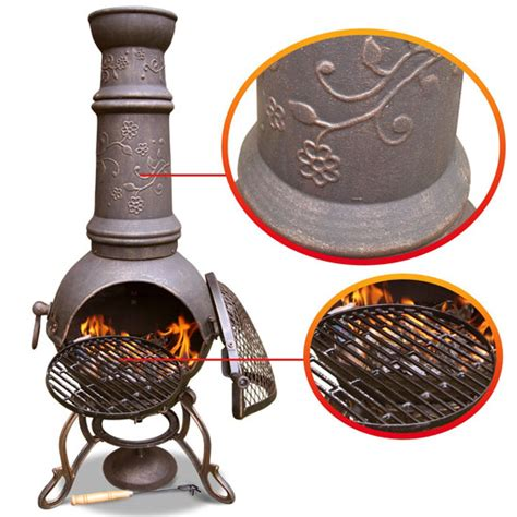 Large Cast Iron Chiminea - top 10 best chimineas outdoor heating in the winter bbq