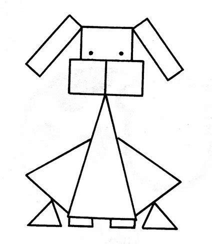 Animales hechos de figuras geometricas Imagui