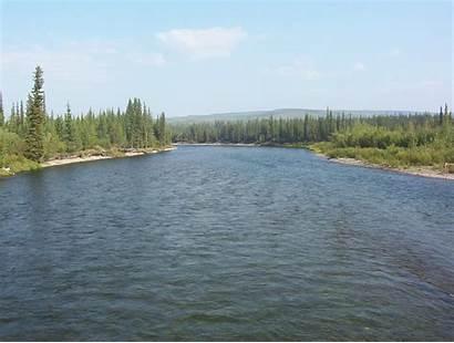 Klondike River Yukon Crossing Territory Dempster Highway