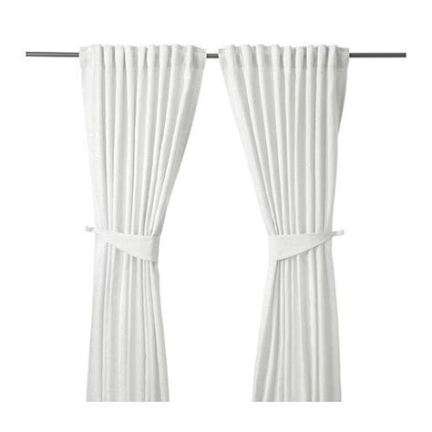 blekviva curtains with tie backs 1 pair white