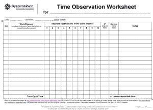 time worksheet   time study worksheet