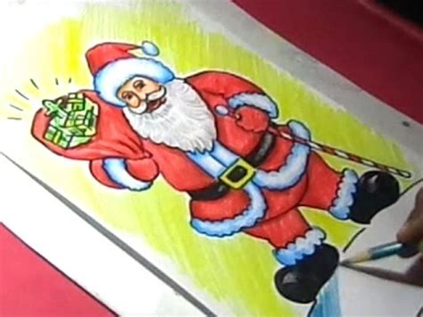 best drawi g of santa clause with chrisamas tree how to draw santa clause drawing step by step