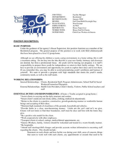 house cleaning resume sle sle resumes