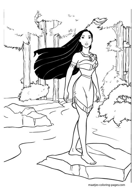 pocahontas coloring pages getcoloringpagescom