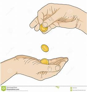 Giving money stock illustration. Image of indifference ...