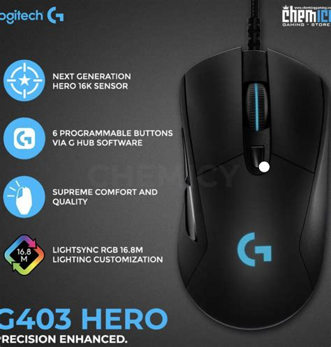 Once the software is downloaded and installed, this is what you are presented with first. Logitech G403 Software / Logitech G403 Hero Prodigy Wired Programmable Gaming Mouse Lightsync ...