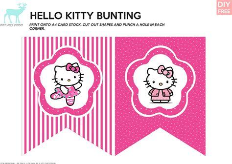 diy   kitty bunting justlovedesign