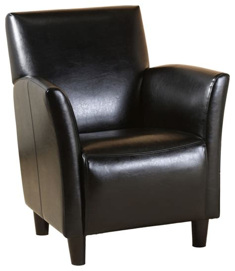 classic grand black leather arm chair contemporary