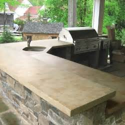 outdoor kitchen countertops ideas concrete countertops in outdoor kitchen bussiness