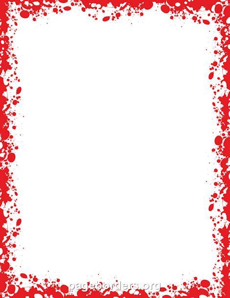 blood border make recipe cards blood