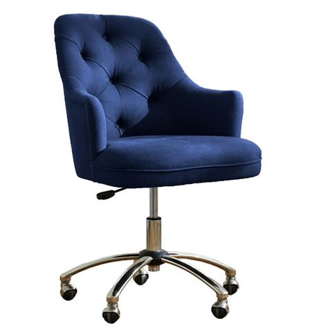 desk chair twill tufted desk chair pbteen