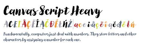 canvas script heavy fontscom