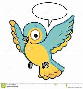 Oiseau Jaune Et Bleu : fond parlant bleu et jaune d 39 oiseau de vol d 39 illustration de couleur de dessin mignonne et de ~ Melissatoandfro.com Idées de Décoration