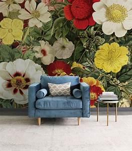 Field, Of, Flowers, Mural