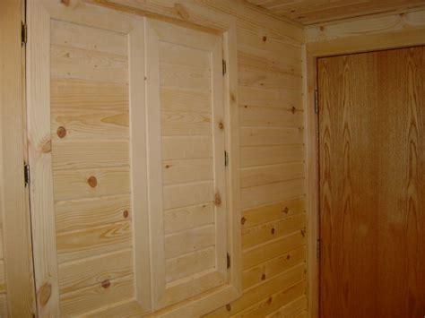 pine boxcar wall soffit built in linen closet doors