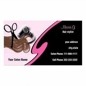 Hair salon businesscards business card template zazzle for Hair stylist business card templates