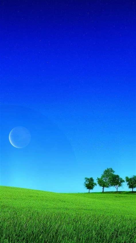 green nature blue sky wallpaper