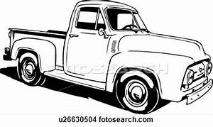 ford truck clipart With 1956 ford f100 4x4