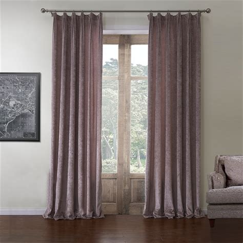 Room Darkening Curtain Rococo Solid Pattern Polyester