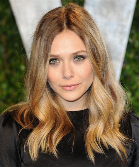Elizabeth Olsen Long Wavy Casual Hairstyle   Dark Blonde