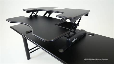 computer lift for desk top z lift standing desk converters review youtube