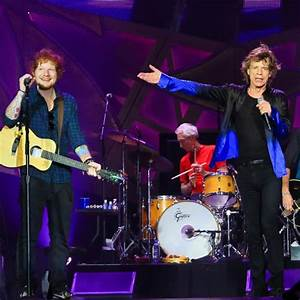 WATCH Ed Sheeran Joined Rolling Stones On Stage For A