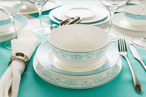 light blue dinnerware bone china dinnerware set