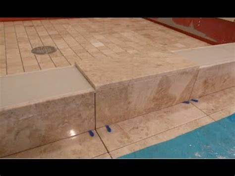 "Part ""5"" How to tile shower curb & measure all cuts to"