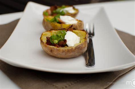 easy potato recipes basic potato skins recipe dishmaps