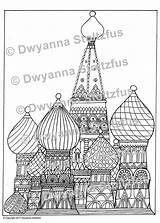 Cathedral Coloring Basil Template sketch template
