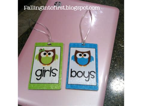 diy bathroom passes falling into classroom decor best bathroom pass and