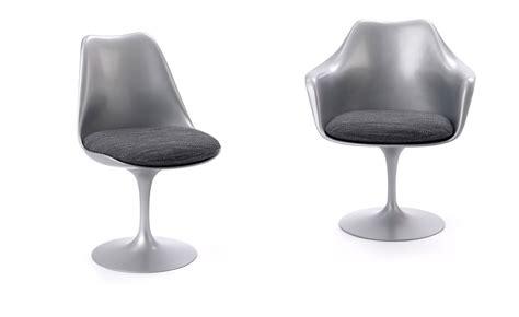 saarinen platinum tulip side chair hivemodern