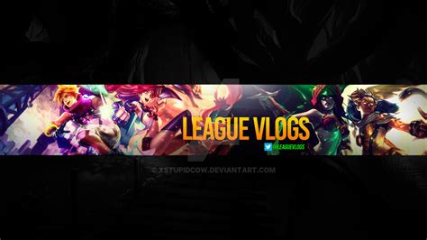 anime youtube channel art commission leaguevlogs youtube channel art by xstupidcow
