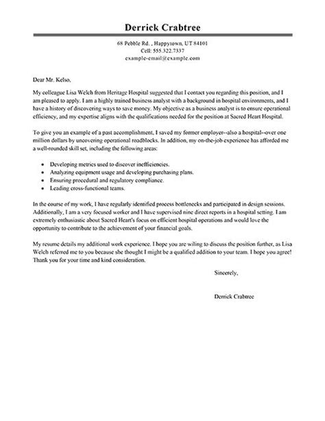 big business analyst cover letter   work stuff