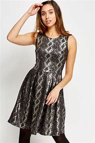 Silver Metallic Lace Dress