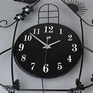 Swing, Clocks, 3d, Fancy, Decorative, Metal, Art, Craft, Bird, House, Wall, Clock