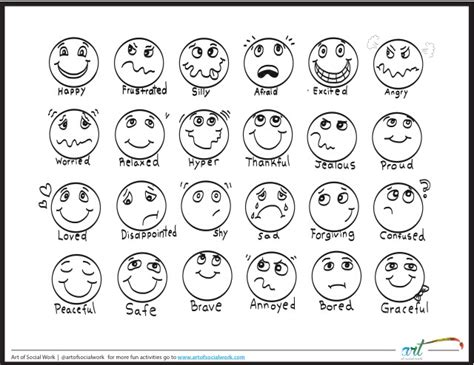 feeling faces printable coloring sheet of social work 456 | img 5369
