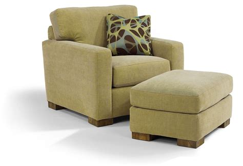 flexsteel bryant contemporary chair and ottoman with