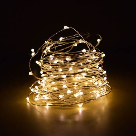 string lights 100 warm white led wire waterproof string lights