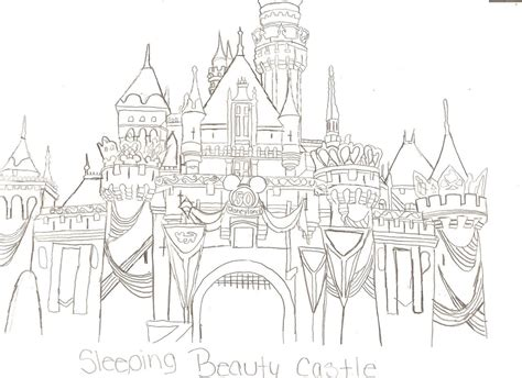 Sleeping Beauty Castle Coloring Pages