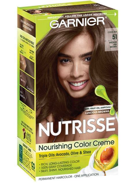 nutrisse nourishing color creme medium ash brown  garnier