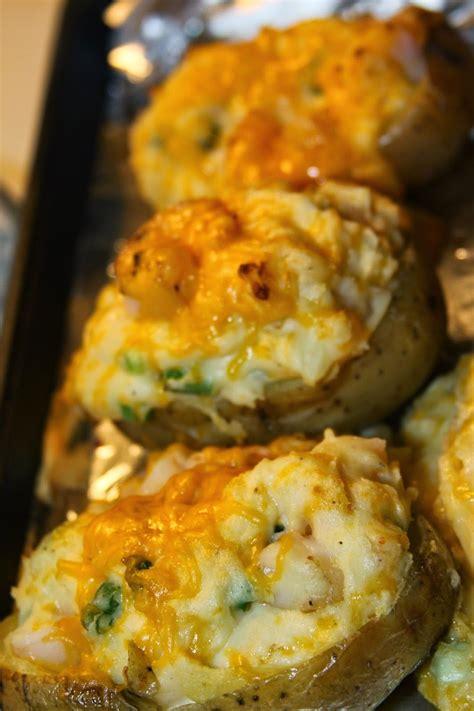 paula deens  baked shrimp stuffed potatoes recipe