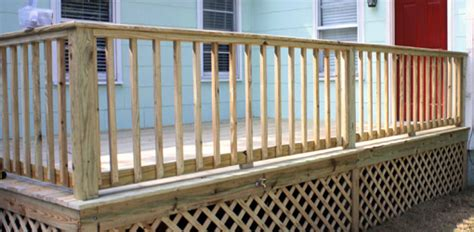 deck railing spacing between posts building handrails for a wooden deck today s homeowner