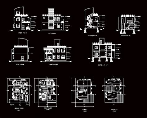 house plan  dwg plan  autocad designs cad