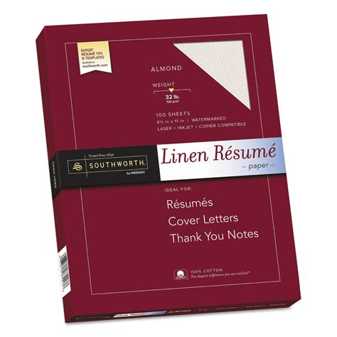 Southworth Linen Resume Envelopes by Southworth Sourd18acfln 100 Cotton Linen Resume Paper