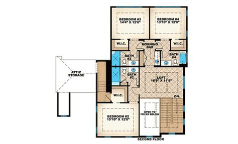 Master Down French Colonial House Plan