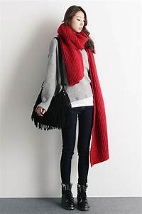 15+ best ideas about Red Scarf Outfit on Pinterest | Combat boots style Fall clothes and Fall ...