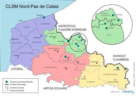 Carte Nord De La by Carte Nord Pas De Calais Carte Du Monde