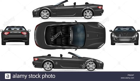 Black Convertible Car Stock Photos & Black Convertible Car